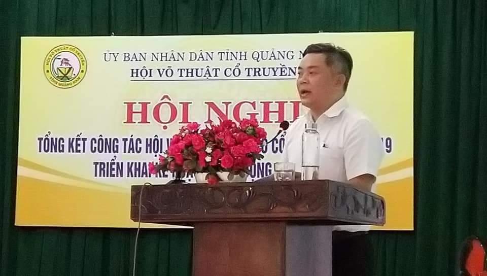 Ông Tào Viết Hải - PGĐ Sở VH,TT&DL tỉnh Quảng Nam phát biểu chỉ đạo tại Hội nghị
